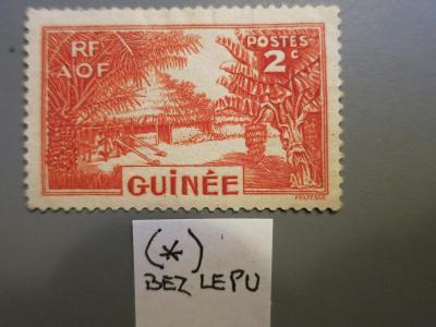 FRANCOUZSKÁ KOLONIE: GUINEA,  neražená - bez lepu (*)
