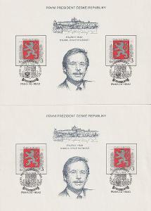 Česká republika, 1993, Pamětní list k volbě presidenta ČR PAL 1
