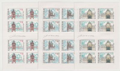 Česká republika, 2000, 9-13 Kč Krásy naší vlasti, přepážkové listy