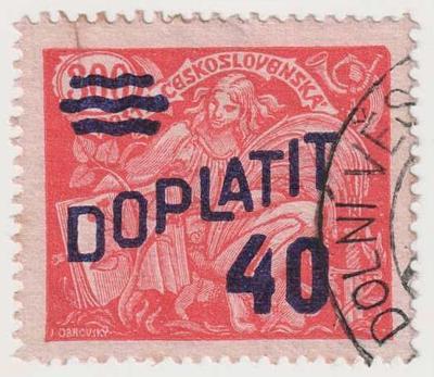 ČSR I., 1926, 40/300 h doplatní, Hz.13 3/4:13 1/2, spolehlivě ověřeno