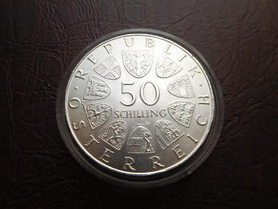 50 SCHILLING 1972 stříbrná mince