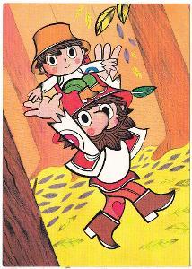 Dětská kreslená pohlednice - Rumcajs