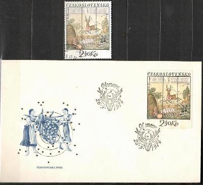 V9423   - FDC obálka prvního dne vydání + známky navíc