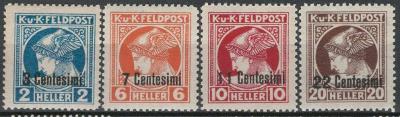 Rakousko / Österreich 1918 - FELDPOST - ITALIEN - ANK / Mi. 20 - 23 **