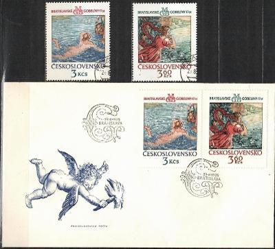 V9444   - FDC obálka prvního dne vydání + známky navíc