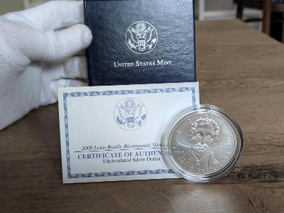 !Krásný Ag Dollar, 2009! Včetně certifikace a parádního balení!