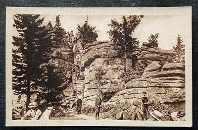 Šumava Dreisesselfels Foto J. Seidel 1922 TOP STAV