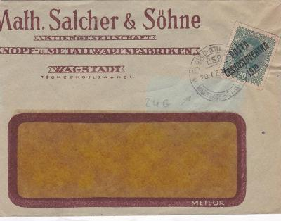 Pošta Československá, firemní Bílovec (Nový Jičín), vlaková pošta