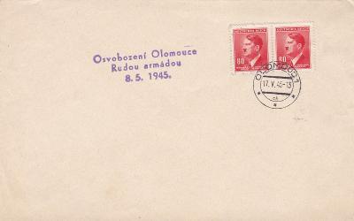 Známky Hitler, Olomouc 17.5.1945, osvobození 8.5.