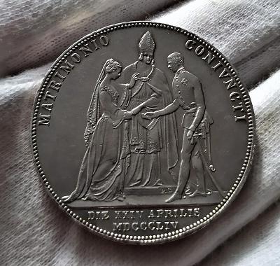 2 Zlatník 1854 A Svatební, TOP STAV, KRÁSNÁ OSTRÁ RAŽBA!!