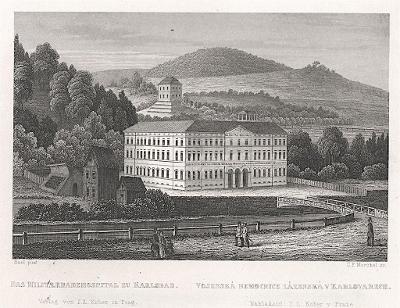 Karlovy Vary nemocnice, Kapper,  oceloryt, 1855