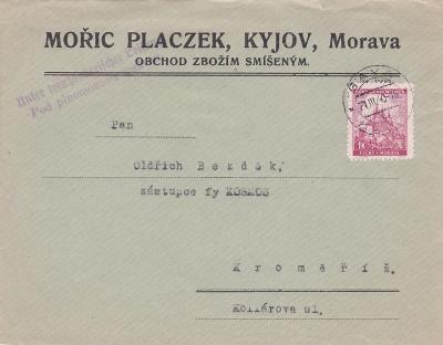 Firemní Kyjov 1940 (Hodonín) - Kroměříž.