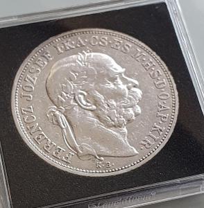 Stříbrná 5 koruna  1908Kb.    Velmi vzácná!!! Sbírkový stav!!