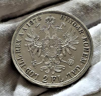 2 Zlatník 1878, SBÍRKOVÝ STAV, NÁDHERNÉ DETAILY !!!