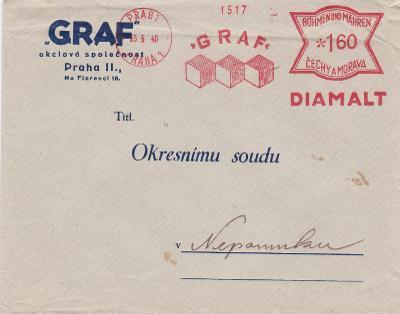 Firemní Praha, frankotyp 1940 - Nepomuk.
