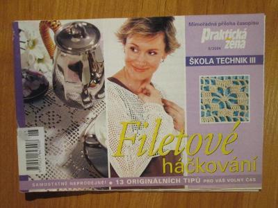 Praktická žena - filetové háčkování