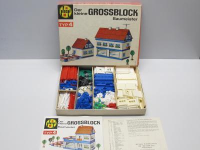 Stará retro stavebnice - GROSSBLOCK 4 - kompletní