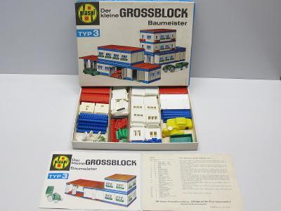 Stará retro stavebnice - GROSSBLOCK 3 - kompletní