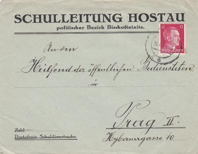 Sudety, firemní Hostouň 1941 (Horšovský Týn, Domažlice) - Praha.