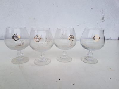 Staré skleničky VČELA PRAHA 4ks