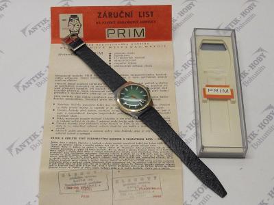 Staré hodinky - PRIM - ala ROLEX - TOP STAV - NENOŠENÉ