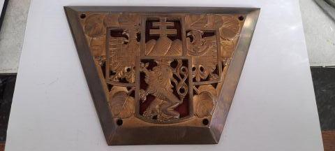 krásný starý mosazný republikový znak mosaz nebo bronz