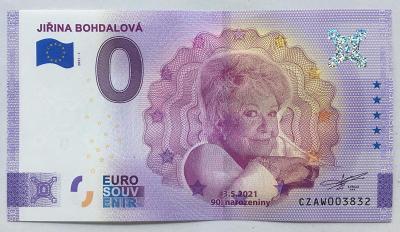 0 EURO souvenir Česká republika - Jiřina BOHDALOVÁ