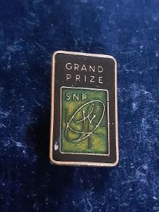 Odznak GRAND PRIZE, černozelená varianta - Sport