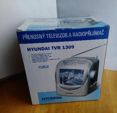 přenosná televize a radio hyundai tvr 1309