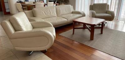 Luxusní kožená designová sedací souprava + 2 křesla ..OD KORUNY!!!