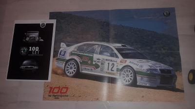 Škoda - 100 let výroby vozů + plakát Octavia WRC - 100 let Motorsportu