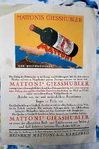 Propagační leták - Mattoni, První republika