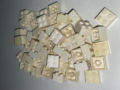 Lego- kostky 2x2 bílé