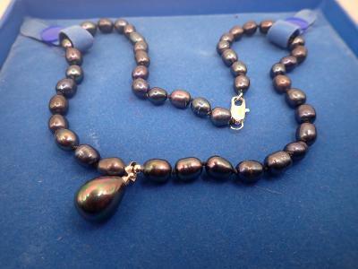 Náhrdelník pravé tahitské perly délka 44cm