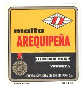 Pivní etiketa Peru 2