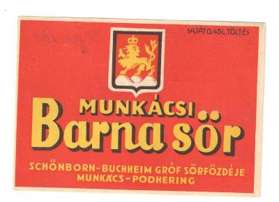 Pivní etiketa Mukačevo Ukrajina