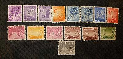 britské Seychely 1954 * Alžbeta II po 1Sh mi. 170-184