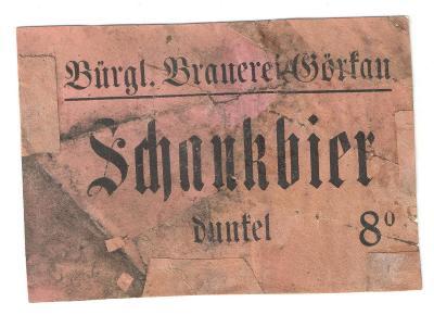 Velmi stará etiketa pivovar Jirkov