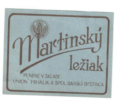 Velmi stará etiketa Bánská Bystrica