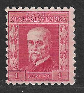 J973 Masaryk 1koruna IV.typ pr. 6