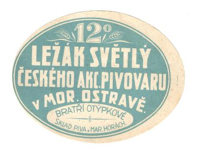 Velmi stará etiketa pivovar Ostrava 2