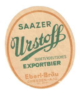 Velmi stará etiketa pivovar Źatec