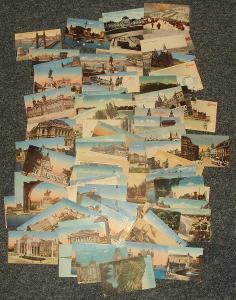 Krásná sbírka pohledů Maďarska - malý formát!! 94 kusů!