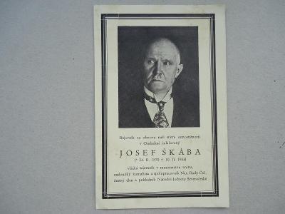 Josef  Škába /1870 - 1933/