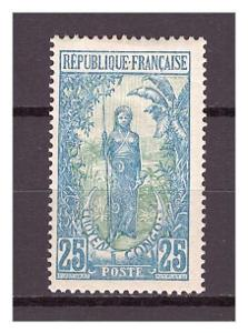 """Střední Kongo 1907 """"Definitives (1907-1922)"""" Michel 8"""