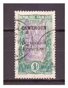 """Kamerun 1916 overprint """"CAMEROUN Occupation.."""" Michel 44"""