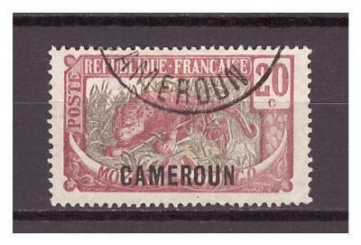 "Kamerun 1921 Country Symbols overprint ""CAMEROUN"" Michel 53"