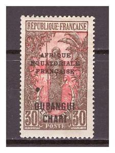 Ubangi-Šari 1925 Overprints AFRIQUE EQUATORIALE FRANCAISE Michel 62