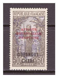 Ubangi-Šari 1925 Overprints AFRIQUE EQUATORIALE FRANCAISE Michel 64