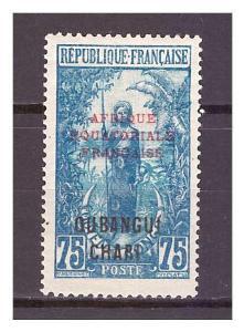 Ubangi-Šari 1925 Overprints AFRIQUE EQUATORIALE FRANCAISE Michel 66